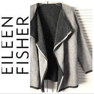 EILEEN FISHER Waterfall Cascading CARDIGAN Sweater